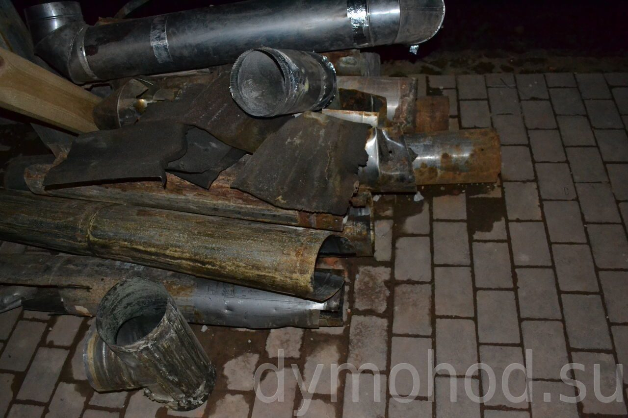 схема демонтажа дымовой трубы стальной