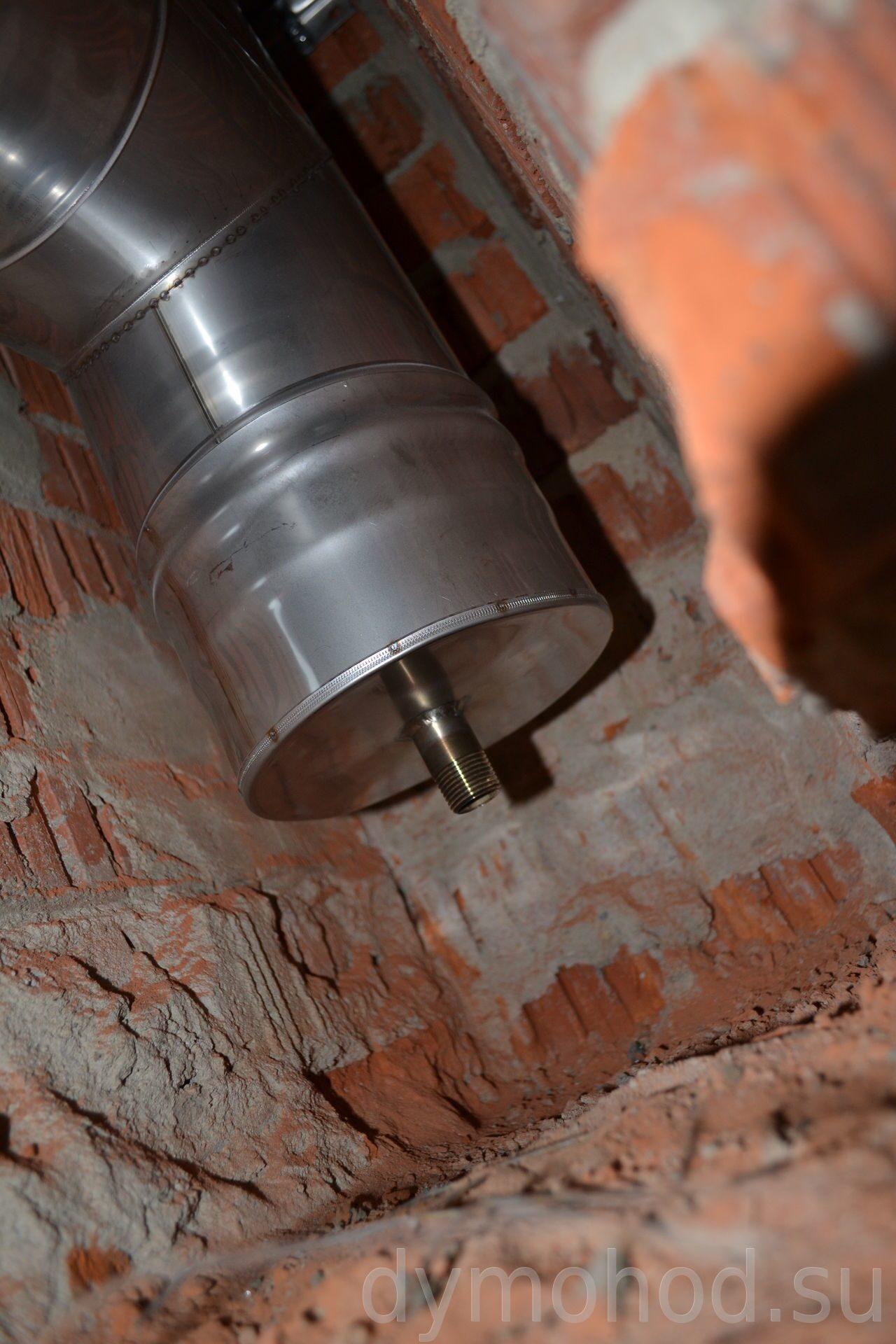 Тройник с конденсатоотводом Монтаж дымоход + вентиляция. Красноармейск. Коттеджный поселок Медвежье Озеро